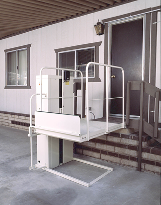 Wheelchair Lifts Macs PL50 and PL72 Macslift Commercial - ADA Trus-T-Lift  Bruno VPL3100 Residential & Commercial Harmar Residential & Commercial Pride Mobility Lifts  Harmar Inside Lifts  Harmar Outside Lifts TriLift Outside Lifts