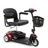 gogo elite traveller portable easy transport take-apart 3-wheeled scooter in Houston tx affordable cost sale price electric hospital bariatric bed are motorized base foundation frame